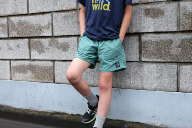 新しい生地のYAMA-Shortsがお気に入り